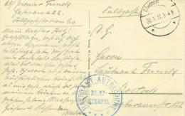 Feldpost 1.WK HAFENAMT  AUTRECOURT  1917