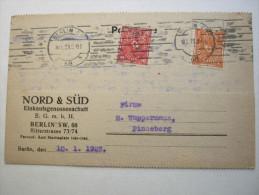 1923 , Berlin        Firmenlochung , Perfin , Beleg - Briefe U. Dokumente