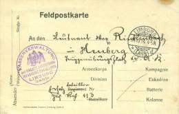 Feldpost 1.WK  Kassenverwaltung des ersatz Landsturm Inf. Batl. LIMBURG (LAHN) 1914