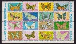 Guinée équatoriale YV 71 O 1975 Papillon - Schmetterlinge