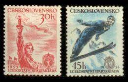 CZECHOSLOVAKIA 1955 ** - I Spartakiada - YT 790-1; CV = 9 € - Neufs