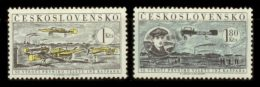 CZECHOSLOVAKIA 1959 MNH** - First Czech Airplanes - Mi 1159-60 - Neufs