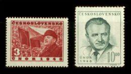 CZECHOSLOVAKIA 1949 MNH** - 1 Ann. Of Revolution - Mi 564-5, YT 488-9 - Neufs