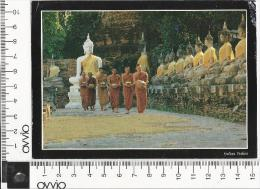 THAILANDIA) MONACI BUDDHISTI 1990 Viaggiata - Tailandia