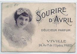 Carte Parfumée Sourire D'Avril Viville-Paris A843E Du Fontan Cote 200 à 250 Frs  Scan Recto-verso Plis état - Cartes Parfumées