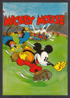 30321/ MICKEY MOUSE Joue Au Rugby, 2 Scans - Disney