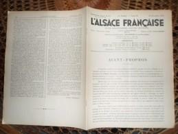 REVUE L  ALSACE FRANCAISE 23 DECEMBRE 1934 STRASBOURG HITLERISME MEMEL SPHINX DE L EXTREME ORIENT - Magazines