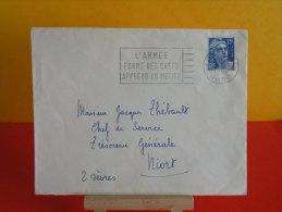 Flamme, 59 Nord, Lille Gare, L´Armée Forme Des Chefs - 1954 - Marcophilie (Lettres)