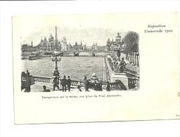 Exposition Paris 1900 : Perspective Sur La Seine, Vue Prise Du Pont Alexandre - Expositions