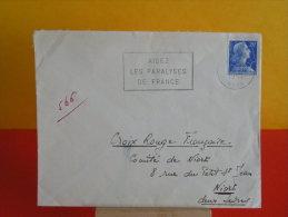 Flamme, 59 Nord, Lille Gare, Aidez Les Paralysés De France - 1957 - Marcophilie (Lettres)