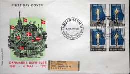 Denmark 1970  Cz. Slania FDC MiNr.494 The Liberation Of Denmark / La Libération Du Da ( Lot Ks) FOGHSCOVER - FDC