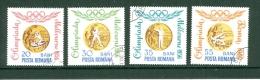 Rumänien 1965 Mi. 2345, 2346, 2347, 2349 Gest. Olympische Spiele 1964 Tokyo Kanu Boxen Schiessen Ringen Medaillien - Summer 1964: Tokyo