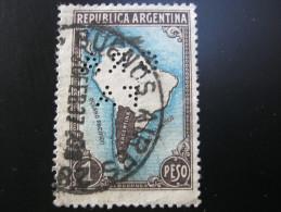 FIRMENLOCHUNG     ,  Perfin ,   2 Scans  , Selten - Argentinien