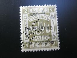 FIRMENLOCHUNG     ,  Perfin ,   2 Scans  , Selten - Palestine