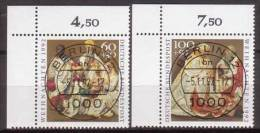 BRD , 1992 , Mi.Nr. 1639 / 1640 O / Used Ersttagsstempel , Eckrand - Gebraucht