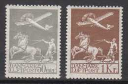 Dänemark Denmark Mi# 180-81 * Mint Airmail 1929 - Nuovi