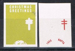 Stamp Christmas Greetings 1955, Pruebas, Proof, United States ** - Variedades, Errores & Curiosidades