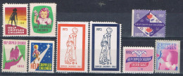 Lot 9 Stamp Crippled Chrildren's Seals, Beneficos United States ** - Variedades, Errores & Curiosidades