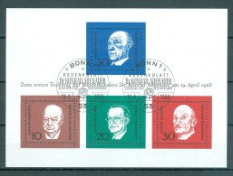 BUND - Block Mi-Nr. 4 - 1. Todestag Von Konrad Adenauer Gestempelt - BRD
