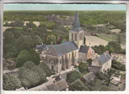 MOULIHERNES 49 - Vue Aérienne Eglise Et Cimetière  CPSM Dentelée Colorisée GF 1960 RARE ? (0 Sur Le Site) Maine Et Loire - Autres Communes