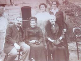 Photo Photographie Issue Album Familial Répertorié à Alforville Aout 1924 1 Homme 4 Femmes Faire Défiler Scans - Geïdentificeerde Personen