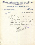 06.ALPES MARITIME.NICE.DEPOT D´ALLUMETTES DE L´ETAT.VICTOR GANDILLOT 5 RUE CONSTANTIN-BERGONDI. - Non Classés