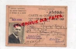 87 - SAINT SORNIN LA MARCHE - CARTE DE COMBATTANT  ARMAND HENRI DINTRAT NE EN 1910 A ST BONNET DE BELLAC - Non Classés