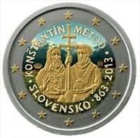 Slovakije 2013   2 Euro Commemo   Constantin De Methode   GEKLEURD - COLLOREE   !! - Slovaquie