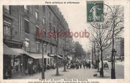 75 - PARIS  V Et XIII Avenue Des Gobelins - écrite 1911  - 2 Scans - Arrondissement: 13