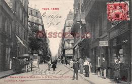 75 - PARIS -  Rue Du Chemin Vert Prise De La Rue De Popincourt XI  - écrite 1908-   - 2 Scans - Arrondissement: 11