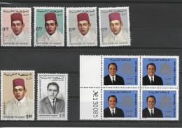 MAROC ROYAUME / Lot De Timbres Neufs** 543, 549665 Bloc De 4 Avec Numéro Et PA 106 - Marokko (1956-...)