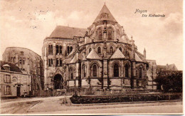 Original Feldpost-Ans.-Karte 1.WK Noyon (Frankreich) Die Kathedrale, FELDPOSTEXPEDITION der 16.RES.-DIV. 1.1.16