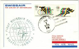 STATI UNITI - UNITED STATES - USA - US - 1973 - First Flight - Premier Vol - Boston-Genève - Swissair - Aerei