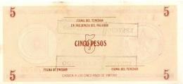 CUBA/KUBA EXCHANCE CERTIFICATE - CERTIFICADO DE DIVISA SERIE D 5 PESOS - MOLTO RARO - Cuba