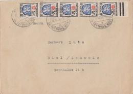 Fr. Zone Brief Mef Minr.5x 7  16.12.46 Gel. In Die Schweiz - Französische Zone