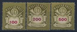 **Hungary 1946 Mi 916-18 (3) Coat Of Arms Wappen MNH - Ungarn