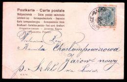 Poland 1903 Postcard Railway TPO Gorlice - Zagorz - Covers & Documents