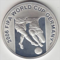 @Y@  Azerbaijan 50 Manat 2004 Silver Proof Worldcup Soccer RARE Mintage Only 200. KM : 48