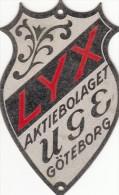 Plaque Velo - LYX AKTIEBOLAGET UGE GOTEBORG - New Unused 75x47 Mm - Luxurious - Sverige - Wielrennen