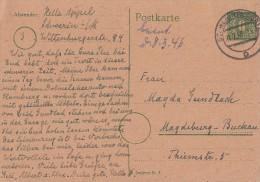 Mecklenburg-Vorpommern Ganzsache Minr.P6 Schwerin 21.2.46 - Sowjetische Zone (SBZ)