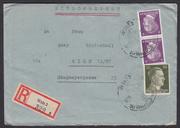 AUSTRIA - Wels, Cover, Envelope, Year 1944 - Third Reich, Dritte Reich, Registered Letter, Commemorative Seal - Briefe U. Dokumente