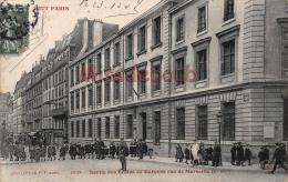 75 - PARIS -  Sortie Des écoles De Garçon De Marseille XI  - écrite 1907   - 2 Scans - Arrondissement: 10