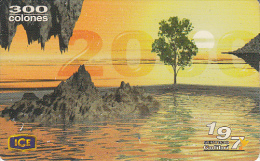 COSTA RICA - Vision 2000, ICE Tel prepaid card C 300, 04/00, used