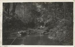 Equatorial Guinea 1920s Rio Muni Transporte Fluvial De La Medera Forestry Forest Logs Agfa Viewcard - Equatorial Guinea