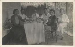 Equatorial Guinea 1920s Rio Muni Colonial Planters Family Agriculture Agfa Viewcard - Guinea Equatoriale