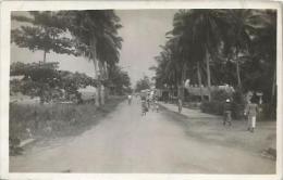 Equatorial Guinea 1920s Rio Muni Bata vua calle Agfa viewcard