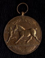 MEDAILLE BRONZE 1928 CONCOURS DE CHEVAL A WOUMEN ( Diksmuide ) - PAARDENPRIJSKAMP - RARE !! - Belgium