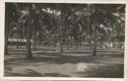 Equatorial Guinea 1920s Rio Muni Plaza De Las Palmeras Rio Benito Agfa Viewcard - Guinea Equatoriale