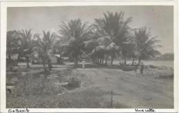 Equatorial Guinea 1920s Rio Muni una calle Rio Benito Agfa viewcard