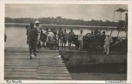 Equatorial Guinea 1920s Rio Muni embarcadero Rio Benito Agfa viewcard